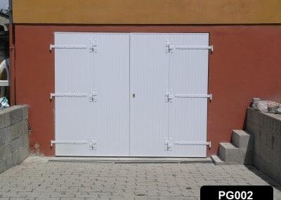 Porte de garage PVC ouvrant à la française 4 vantaux
