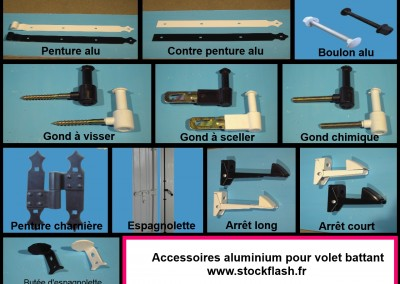 Volets battant en PVC avec tous les accessoires en aluminium