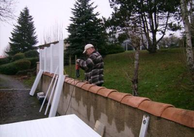 Clôture claustra PVC KIT sur mesure livré sous 15 jours