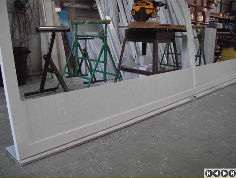 Exemple d 39 assemblage d 39 un portail cadre alu 72x40 - Fabriquer portail coulissant ...