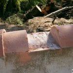 Pose clôture PVC sur mur tuilé