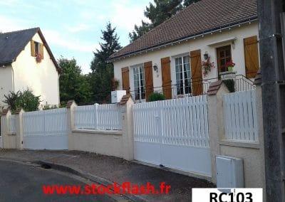 Portail clôture PVC en KIT sur mesure suivant le plan de vos murets