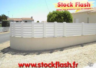 KIT clôture PVC pour maison jardin piscine sur mesure