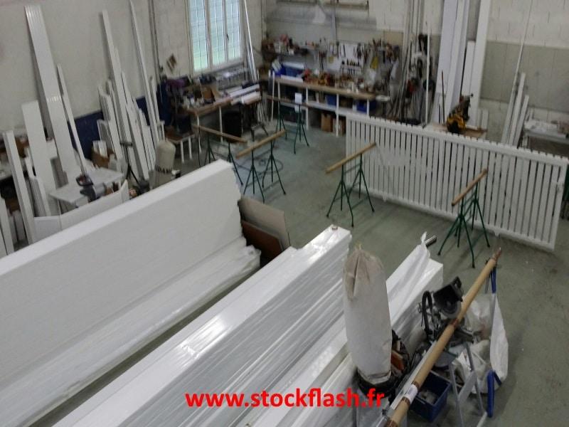 PVC Stock Flash portail claustra sur mesure livraison sous 15 jours