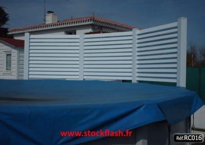 Clôture PVC KIT pour entourage maison jardin piscine