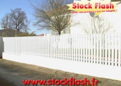 Clôture jardin PVC sur mesure en KIT livré sous 15 jours