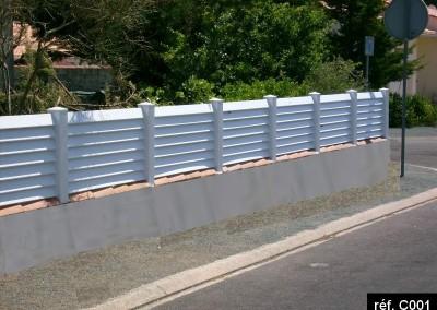 Clôture PVC persienne claire voie