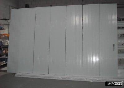 Porte de garage PVC coulissante en KIT et sur mesure