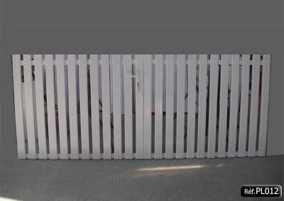 Portail 2 vantaux avec cadre aluminium