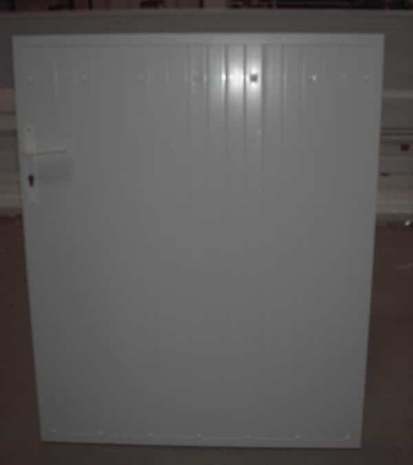 Portillon cadre aluminium et PVC occultant