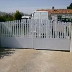 Portail 2 vantaux d'entrée de maison