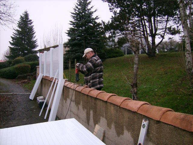 Clôture claustra PVC KIT