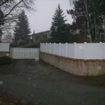 Portail de jardin et claustra PVC