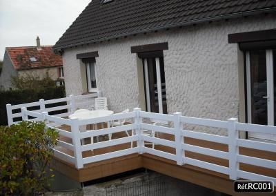 Rambarde en PVC pour terrasse