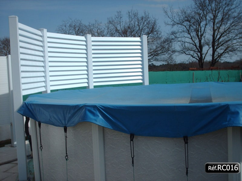 brise vue en pvc pour piscine terrasse pergola. Black Bedroom Furniture Sets. Home Design Ideas