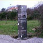 Câble électrique dans pilier portail