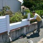 Installer clôture PVC
