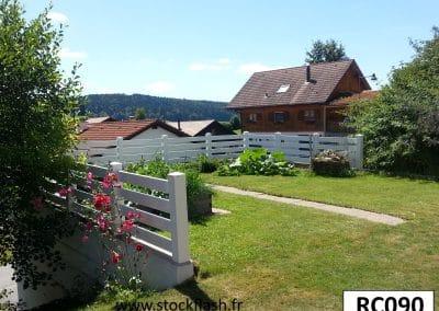 Clôture PVC de jardin sur mesure en longueur et hauteur et en KIT