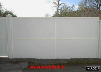 Clôture renforcé cadre aluminium PVC intégré séparative